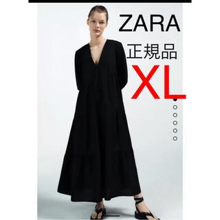 ZARA - ZARA  新品 パフスリーブ付きポプリンワンピース ザラ 今季 完売 XL