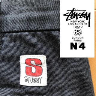 STUSSY - ステューシー オールドステューシー チノパンツ チノパン ストレート ブラック