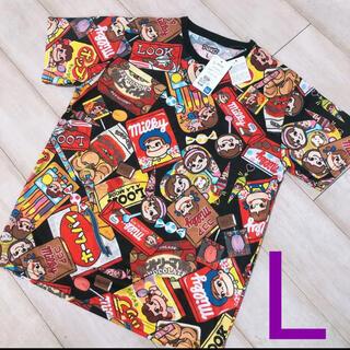 サンリオ - ⭐サンリオ⭐ペコテール ペコちゃん 総柄 Tシャツ オーバーサイズ 不二家 菓子