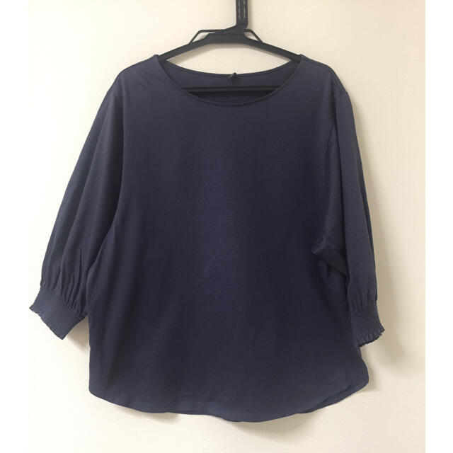 UNIQLO(ユニクロ)のUNIQLO✨綿100% 七分袖Tシャツ レディースのトップス(Tシャツ(長袖/七分))の商品写真