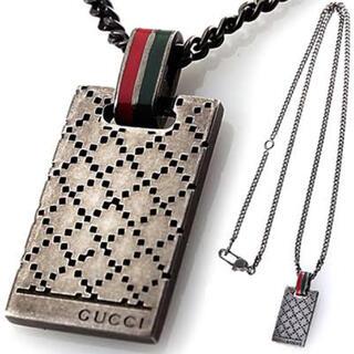 Gucci - gucci グッチ ペンダントネックレス シルバー