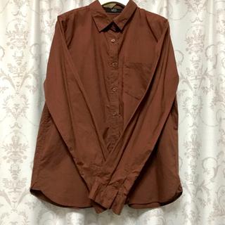 アズールバイマウジー(AZUL by moussy)のブラウンの長袖シャツ Lサイズ AZUL(シャツ/ブラウス(長袖/七分))