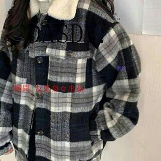 【冬のファッション】チェック ボアブルゾンコートw(チェスターコート)