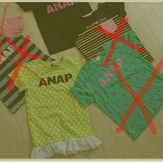アナップキッズ(ANAP Kids)のanap kids 女の子 Tシャツ もとめ売り 5枚(Tシャツ/カットソー)