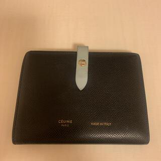 celine - 値下げ CELINE セリーヌ(旧ロゴ) 財布 水色×グレー