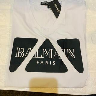 バルマン(BALMAIN)のバルマン  VネックTシャツ  新品(Tシャツ/カットソー(半袖/袖なし))