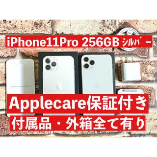 Apple - 【Applecare保証付き】iPhone11Pro シルバー 256GB