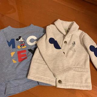 ディズニー(Disney)のディズニー長袖Tシャツとジャケット80(Tシャツ)