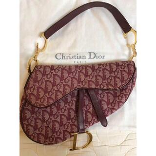 Dior - 美品 Dior ディオール トロッター ロゴ サドルバッグ ボルドー