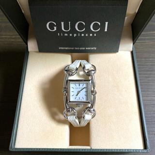 Gucci - 【大特価‼︎】グッチ 高級 バングル腕時計 116.5 ホワイト 春 お花見🎀