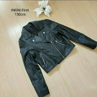 イング(INGNI)のイング 合皮ライダースジャケットM160cm(ライダースジャケット)