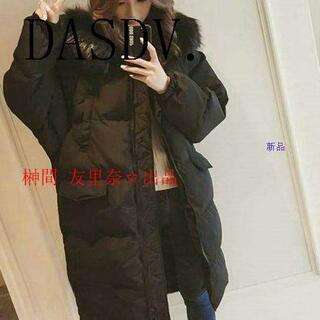 【冬のファッション】ファーロングダウンコートb(ダウンジャケット)