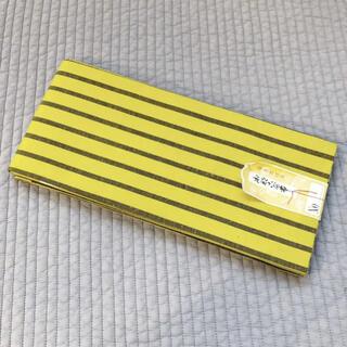 新品◎半巾帯 黄色 イエロー レトロ 和装(浴衣帯)