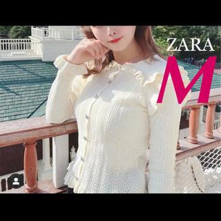 ザラ(ZARA)のZARA 【新作/完売】ビジューボタンニットカーディガン M snidel(カーディガン)