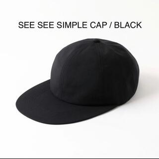ワンエルディーケーセレクト(1LDK SELECT)のSEE SEE SIMPLE CAP BLACK シーシー シンプルキャップ(キャップ)