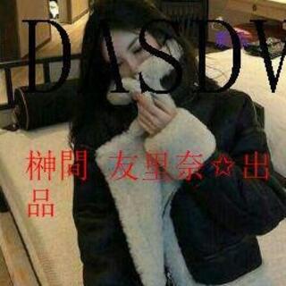 【冬のファッション】韓国 ファッション ムートンジャケット ボアg(ライダースジャケット)