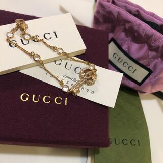 Gucci - GUCCI クリスタル付きダブルGキー ブレスレット