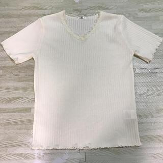 シマムラ(しまむら)のプチプラのあや レーステレコ半袖(カットソー(半袖/袖なし))