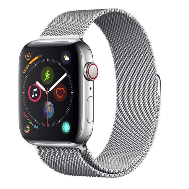 Apple Watch band ミラネーゼループ シルバー 38/40mm メンズの時計(金属ベルト)の商品写真