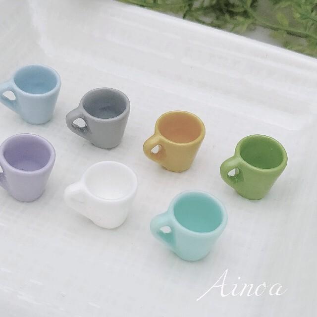 【MCT】ミニチュアマグカップ ドールハウス ミニチュアフード 4個 ハンドメイドのおもちゃ(ミニチュア)の商品写真