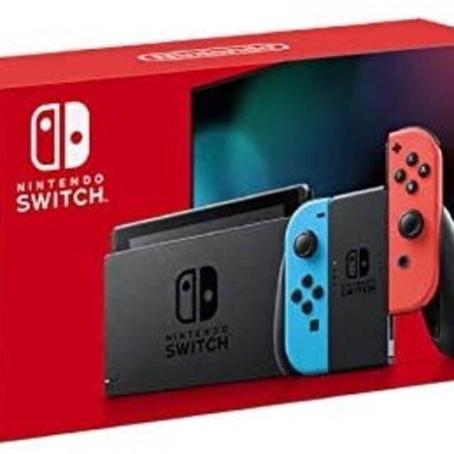 Nintendo Switch(ニンテンドースイッチ)のニンテンドー switch ネオンブルー 新品未開封 エンタメ/ホビーのゲームソフト/ゲーム機本体(家庭用ゲーム機本体)の商品写真