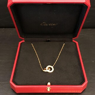 Cartier - 美品!Cartier カルティエ ダイヤモンド ピンクゴールド ネックレス
