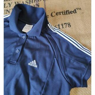 アディダス(adidas)のアディダス ポロシャツ テニス adidas 紺 レディース M(ウェア)