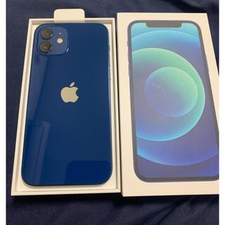 iPhone - SIMフリーiPhone12 128GBブルー激レアApple care加入済