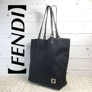 FENDI - 【FENDI】FF金具 ズッキーノ柄(ズッカ柄)ブラック ミニトートバッグ