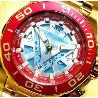 インビクタ(INVICTA)の定価13万円 インビクタ MARVEL アイアンマン アークリアクター ゴールド(腕時計(アナログ))