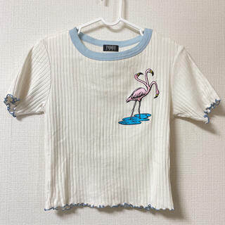PAMEO POSE - PAMEO POSE カットソー Tシャツ トップス ミニ丈トップス