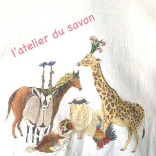 アトリエドゥサボン(l'atelier du savon)のl'atelier du savon お花ZOO 手書きイラストTシャツ(Tシャツ(半袖/袖なし))