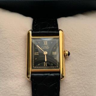 Cartier - カルティエ Cartier マストタンク ブラック SM 腕時計