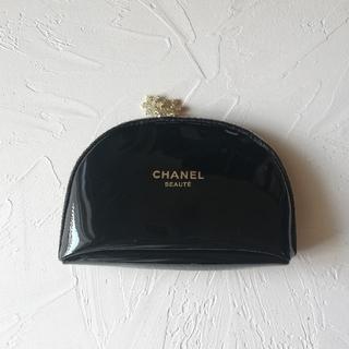 CHANEL - CHANEL エナメル ポーチ black シャネル