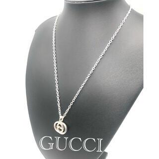 Gucci - GUCCI ネックレス トップ インターロッキングG  チェーン欠品