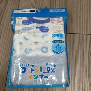 シマムラ(しまむら)のタンクトップ 袖なし メッシュ ロンパース 80  3枚組(肌着/下着)