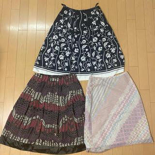 エル(ELLE)のELLE、PLNORE、Parlmaselのスカート♡ (最終値下げ)(ひざ丈スカート)