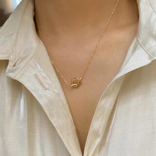 BEAUTY&YOUTH UNITED ARROWS - K18 coating Knot necklace