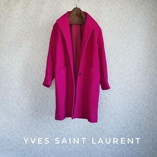 Saint Laurent - 超高級 イブサンローラン 一級品オーバーサイズコート めちゃ可愛ふわゆるデザイン