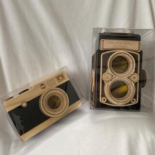 カルディ(KALDI)のKALDI カメラチョコ木箱 2個セット【期間限定出品】(菓子/デザート)