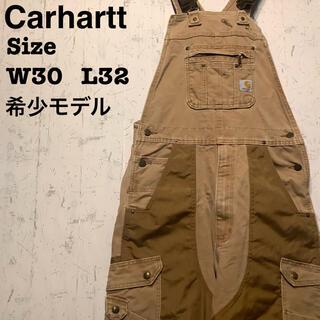 カーハート(carhartt)のCarhartt  オーバーオール 生地切り替え カーハート ブラウン (サロペット/オーバーオール)