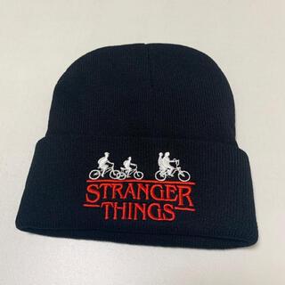 stranger things ニット帽 黒 ストレンジャーシングス