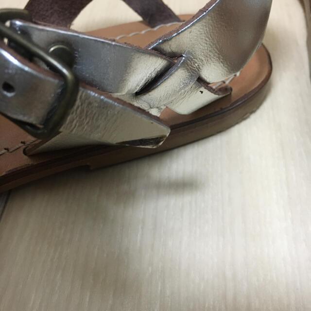 UNITED ARROWS(ユナイテッドアローズ)のUNITED ARROWS ★ シルバーアミサンダル サイズ38 24.5cm レディースの靴/シューズ(サンダル)の商品写真