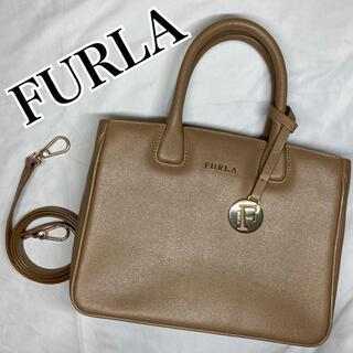 Furla - FURLA フルラ リンダ ハンドバッグ ショルダーバック 2way  ベージュ