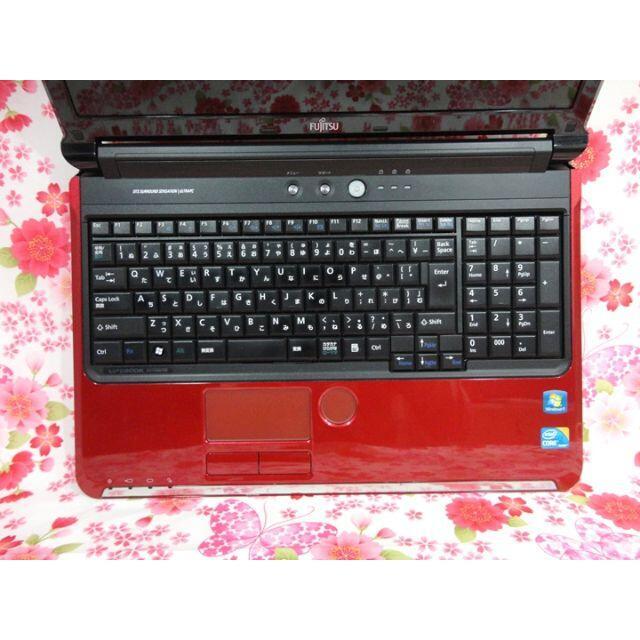 富士通(フジツウ)のノートPC♪Corei5♪高速SSD♪Webカメラ搭載♪初心者も安心♪Win10 スマホ/家電/カメラのPC/タブレット(ノートPC)の商品写真