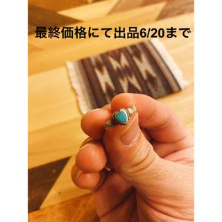 ダブルアールエル(RRL)の超希少!ナバホビンテーハートターコイズシルバーリングNAVAJO RRL50's(リング(指輪))