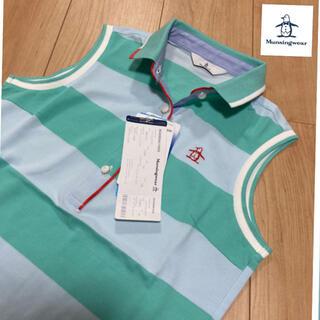 マンシングウェア(Munsingwear)のM 新品定価15400円 マンシングウェア レディース ゴルフシャツ トップス (ウエア)