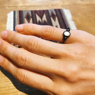 ダブルアールエル(RRL)の超希少!ビンテージナバホマザーオブパールシルバーリングNAVAJO 1930's(リング(指輪))
