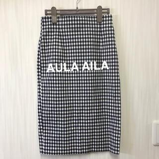 アウラアイラ(AULA AILA)のAULA AILA 膝下タイトスカート(ひざ丈スカート)