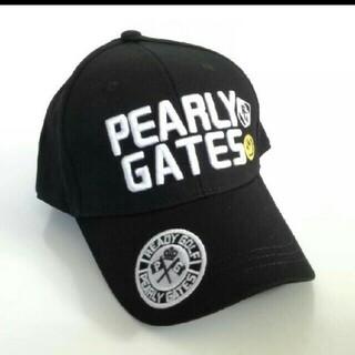 PEARLY GATES - パーリーゲイツ 帽子 ゴルフ タグなし 未使用 帽子 ブラック 黒